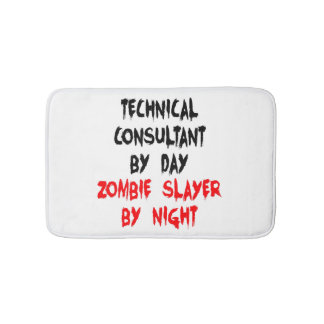 Zombie Slayer Technical Consultant Bathroom Mat