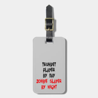 Zombie Slayer Trumpet Player Luggage Tag