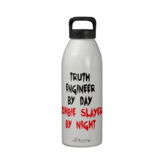Zombie Slayer Truth Engineer Water Bottles