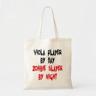 Zombie Slayer Viola Player Canvas Bags