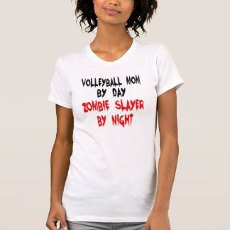 Zombie Slayer Volleyball Mom Tee Shirt