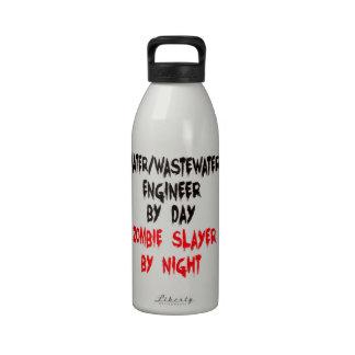 Zombie Slayer Water Wastewater Engineer Drinking Bottles