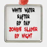 Zombie Slayer White Water Rafter Christmas Ornaments