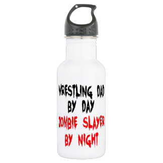 Zombie Slayer Wrestling Dad Stainless Steel Water Bottle
