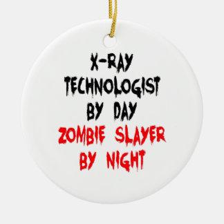 Zombie Slayer xRay Technologist Ceramic Ornament