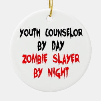Zombie Slayer Youth Counselor Ornaments