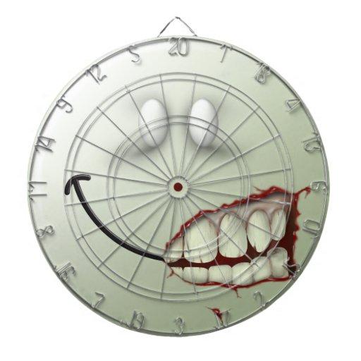 Zombie Smiley Face Dart Board