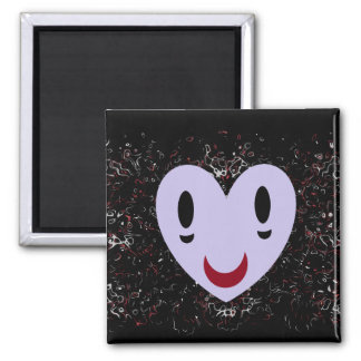 Zombie Smiley 2 Inch Square Magnet