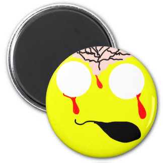 Zombie Smiley Magnet