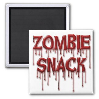 Zombie Snack 2 Inch Square Magnet