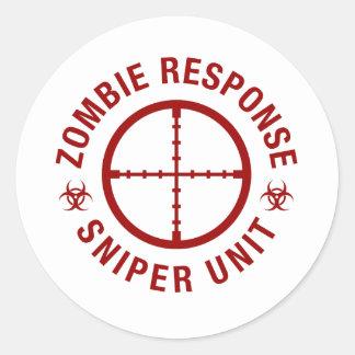 Zombie Sniper Classic Round Sticker
