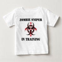 ZOMBIE SNIPER IN TRAINING INFANT T-SHIRT