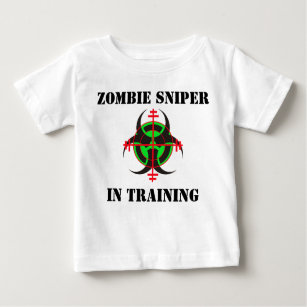 ZOMBIE SNIPER IN TRAINING INFANT T-SHIRT (vr gn)
