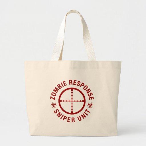 Zombie Sniper Jumbo Tote Bag