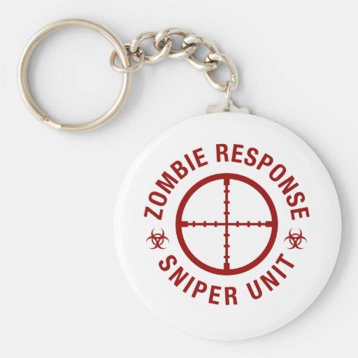 Zombie Sniper Key Chain