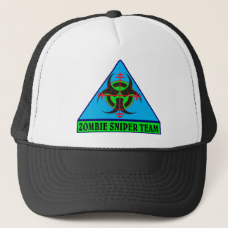 Zombie Sniper Team (Blue background) Hat