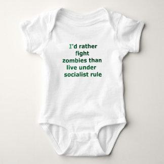 zombie socialism baby bodysuit