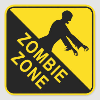 Zombie Square Stickers