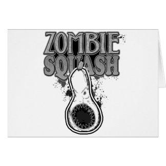 Zombie Squash TM Greeting Card