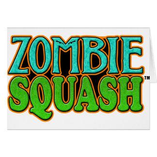 Zombie Squash TM logo Greeting Card