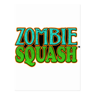 Zombie Squash TM logo Postcard