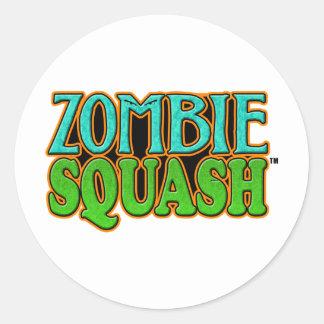 Zombie Squash TM logo Round Stickers