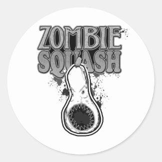 Zombie Squash TM Round Stickers