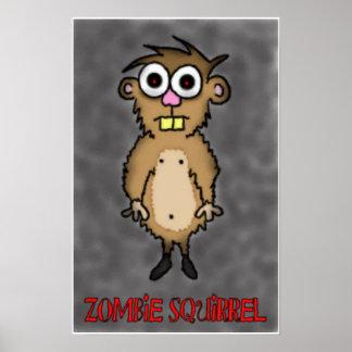 Zombie Squirrel Print