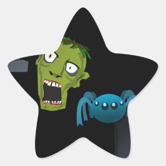 zombie star sticker