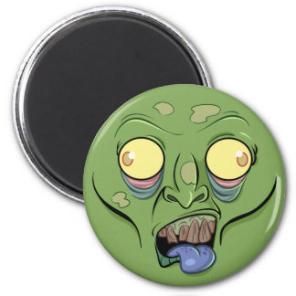 Zombie Sticking Out it's Tongue 2 Inch Round Magnet