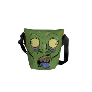 Zombie Sticking Out it's Tongue Messenger Bag
