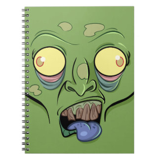 Zombie Sticking Out it's Tongue Notebook