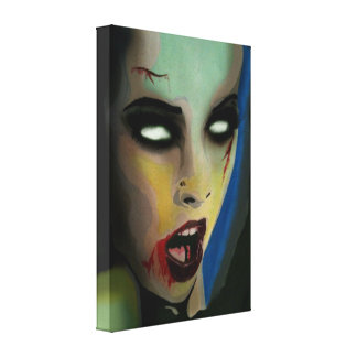 'Zombie' Stretched Canvas Print