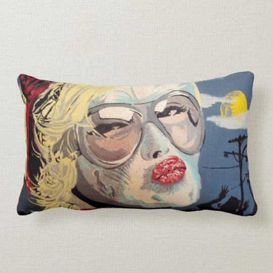 'Zombie Suburbia' (Lumbar) American MoJo Pillow
