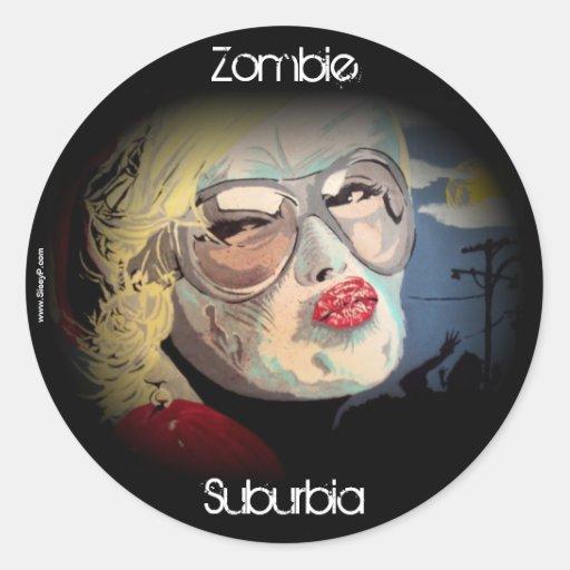 Zombie Suburbia Sticker