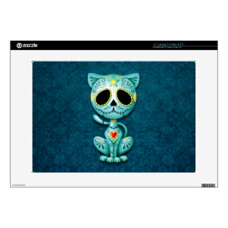 "Zombie Sugar Kitten, blue 15"" Laptop Decal"