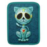 Zombie Sugar Kitten, blue iPad Sleeves