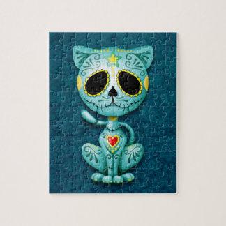 Zombie Sugar Kitten, blue Jigsaw Puzzle