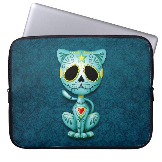 Zombie Sugar Kitten, blue Laptop Sleeve
