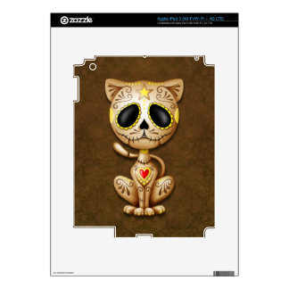 Zombie Sugar Kitten, brown Decal For iPad 3