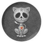 Zombie Sugar Kitten, dark Party Plates