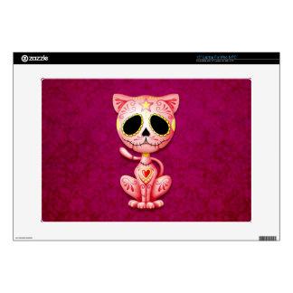 """Zombie Sugar Kitten, pink 15"""" Laptop Skin"""