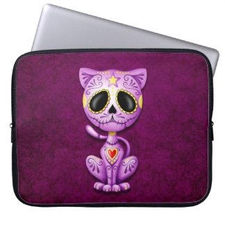 Zombie Sugar Kitten, purple Laptop Sleeves