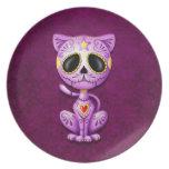 Zombie Sugar Kitten, purple Party Plate
