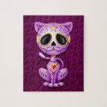 Zombie Sugar Kitten, purple Puzzle