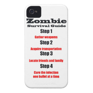 zombie survival guide steps zombies undead monster iPhone 4 Case-Mate case