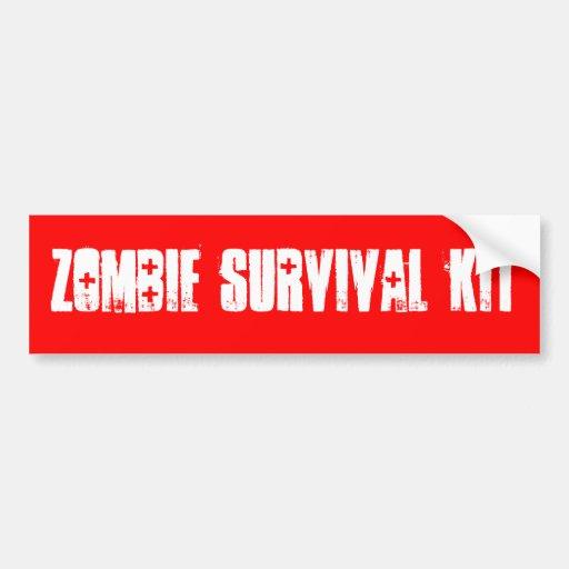 ZOMBIE SURVIVAL KIT BUMPER STICKER