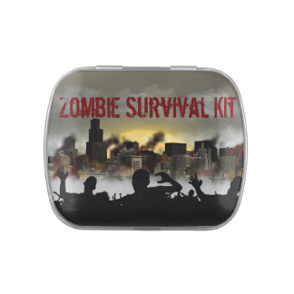 Zombie Survival kit Jelly Belly Candy Tin