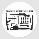 Zombie Survival Kit Classic Round Sticker