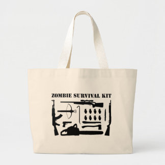 Zombie Survival Kit Large Tote Bag